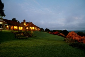 Aberdare country club grounds at night, Kenya