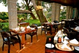 Aberdare country club restaurant terrace, Kenya