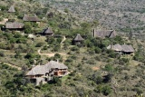 Borana lodge aerial view, Laikipia, Kenya