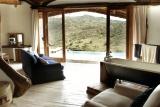 Borana lodge bathroom with view, Laikipia, Kenya