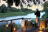 Lion sands tinga  Kruger Parkoverlooking sabie river at sunset