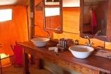 Elephant bedroom camp bathroom, Samburu, Kenya