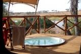 Private plunge pool at  elephant bedroom camp