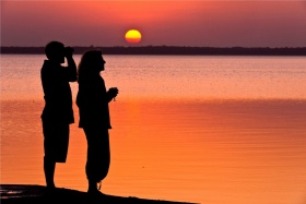 Unforgettable sunsets at thonga beach lodge