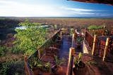 Victoria Falls Safari Lodge deck overlooking African bushveld