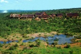 Victoria Falls Safari Lodge with lake
