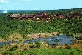 Victoria Falls Safari Lodge with lake