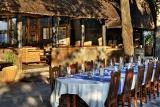 Xugana Island Lodge outdoor dining