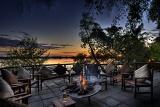 Xugana Island Lodge fireside evening