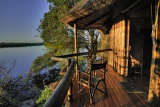 Xugana Island Lodge private deck view