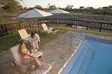 Savute Elephant Camp pool and deck