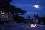 Khwai river lodge fireplace