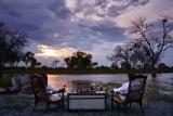 Khwai river lodge sunset drinks