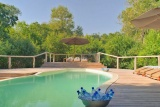 The pool at Lake Manyara Tree Lodge