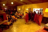 Masai dancers at Rhino Lodge