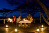 Lake masek tented camp alfresco dinner