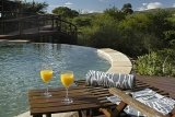 Shishangeni Private Game Lodge outdoor pool overlooking the African bushveld