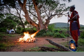 Sundowners at Serengeti Sopa Lodge