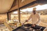 Breakfast at kati kati tented camp