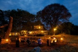 Katavi Wildlife Camp, main lodge at night