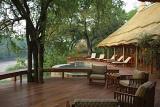 Imbali Safari Lodge pool deck overlooking African bushveld