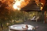 Imbali Safari Lodge outdoor jacuzzi overlooking the bushveld