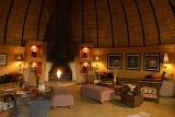 Hoyo Hoyo Tsonga Lodge lounge with fireplace