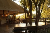 Hamiltons Tented Camp deck with lounge