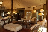 Hamiltons Tented Camp lounge area with comfortable sofas