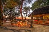 Kwando lagoon campfire