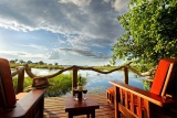 Kwando lagoon room deck view