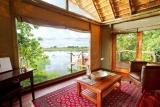 Kwando lagoon room lounge view