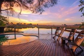 Kwando Lagoon Sunset, Botswana