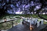 Leadwood Lodge deck dining area