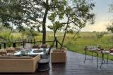 Nxabega okavango tented camp verandah