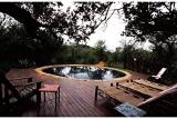 Pool deck at Jaci's Tree Lodge