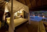 Luxury bedroom and patio