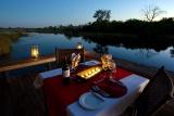 Alfresco dining at savuti camp