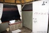 Open-plan bathroom at Camp Hwange
