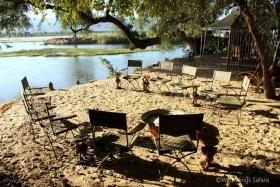 Goliath Safari Camp on banks of Zambezi