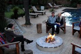 Journey's Inn Africa fire pit