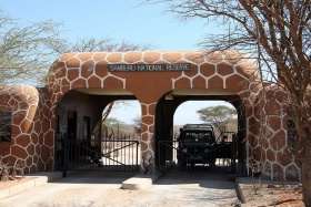 Entrance to Samburu National Park, Kenya