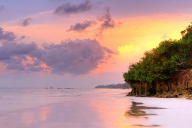 Sunrise over Kenya's Diani Beach