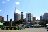 A view of nairobi from the kenyatta international conference centre