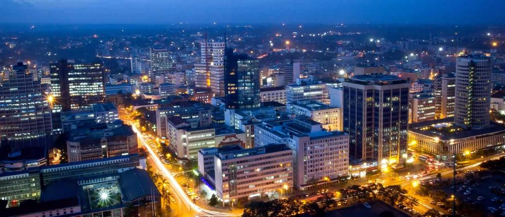Nairobi Bustling Capital Of Kenya