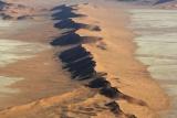 Aerial view namib desert nr swakop