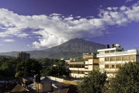 View of Arusha with Mt. Meru backdrop