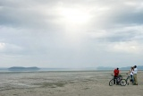 Exploring lake manyara by bicycle