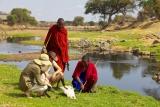 Masai guided walk in Ruaha - image by Niels van Gijn