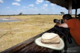 Game-viewing hide at Hwange